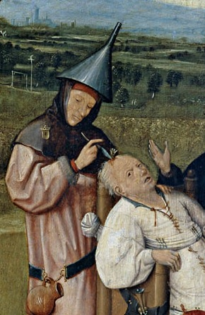 Hieronymus Bosch Removing the Rocks from the Head Detail
